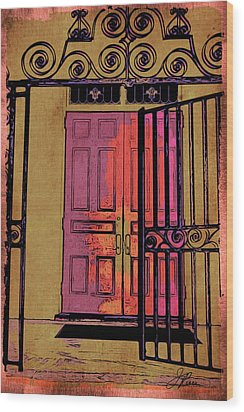 An Open Gate Wood Print