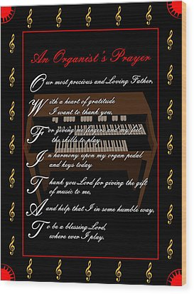 An Organists Prayer_1 Wood Print by Joe Greenidge