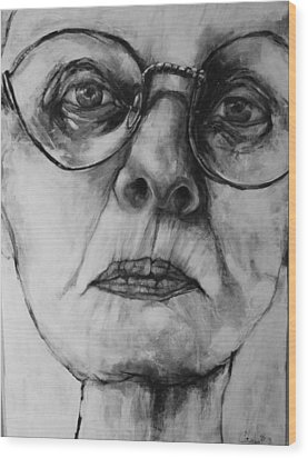 Ana  Wood Print by Jean Cormier