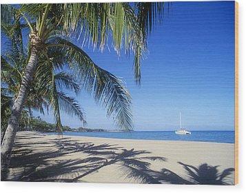 Anaehoomalu Bay Wood Print by Greg Vaughn - Printscapes