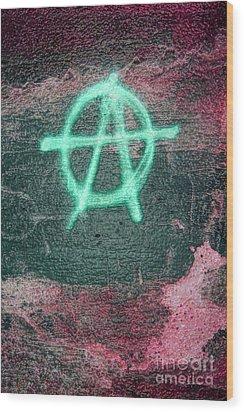 Anarchy In Tallinn Wood Print