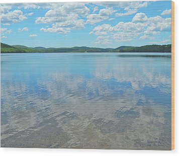 Anasagunticook Lake, Canton, Me, Usa 10 Wood Print by George Ramos