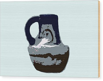 Anasazi Jug Wood Print by David Lee Thompson