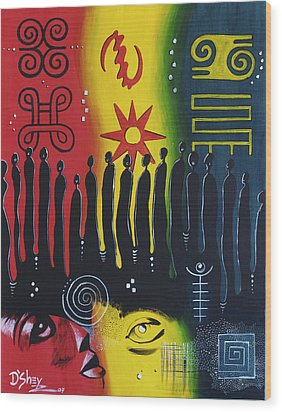 Ancestral Connection Wood Print by Don MacCarthy
