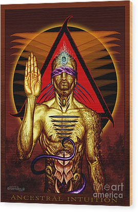 Ancestral Intuition Wood Print by Tony Koehl