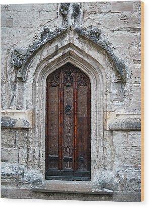 Ancient Door Wood Print by Douglas Barnett