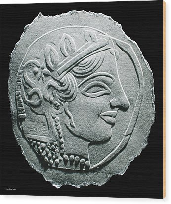 Ancient Greek Relief Seal Drawing Wood Print