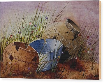 Ancient Relics A Paint Along With Jerry Yarnell' Study. Wood Print