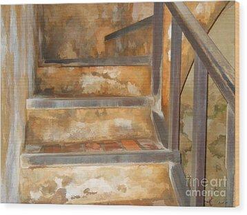 Ancient Stairway Wood Print
