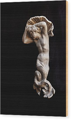 Ancient Statue Of The Virgin Of The Sea Wood Print