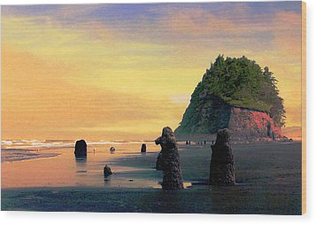 Ancient Trees At Neskowin Beach Wood Print