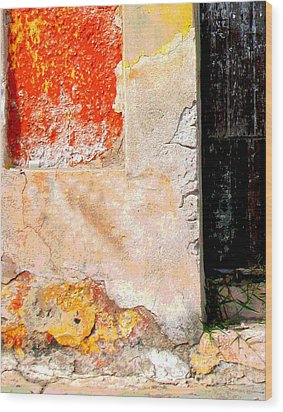 Ancient Wall 4 By Michael Fitzpatrick Wood Print by Mexicolors Art Photography