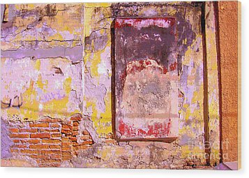 Ancient Wall 7 By Michael Fitzpatrick Wood Print by Mexicolors Art Photography