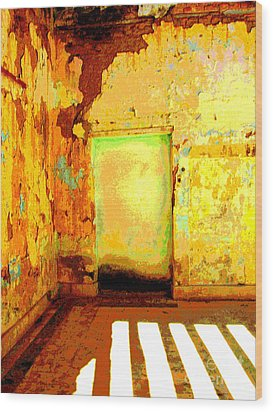 Ancient Wall 8 By Michael Fitzpatrick Wood Print by Mexicolors Art Photography