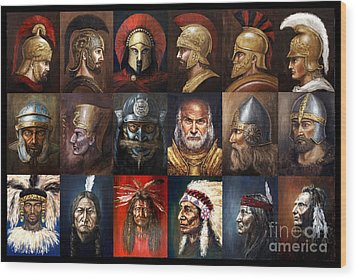 Ancient Warriors Wood Print by Arturas Slapsys