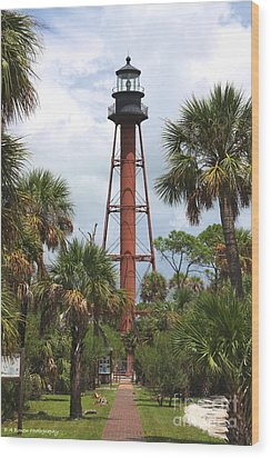 Anclote Key Lighthouse Wood Print