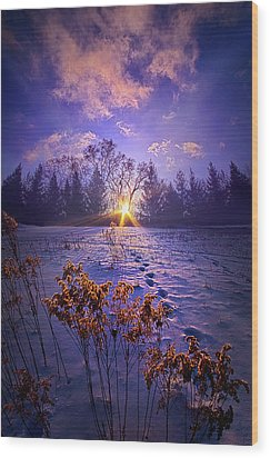 Wood Print featuring the photograph And Back Again by Phil Koch