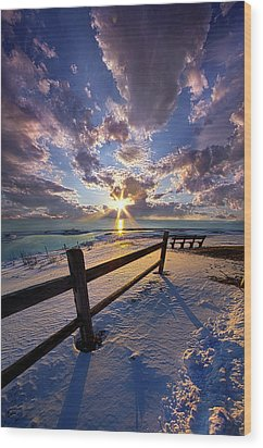 Wood Print featuring the photograph And I Will Give You Rest. by Phil Koch