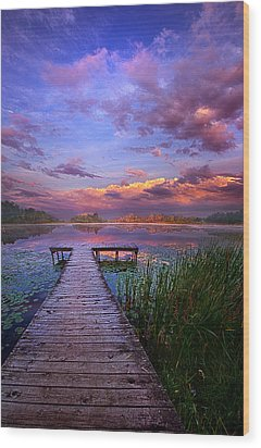 And Silence Wood Print by Phil Koch
