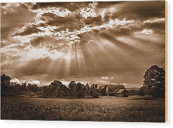And The Heavens Opened 3 Wood Print by Mark Fuller