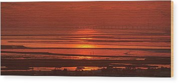 Wood Print featuring the photograph And The Sea May Look Warm To You Babe by Peter Thoeny