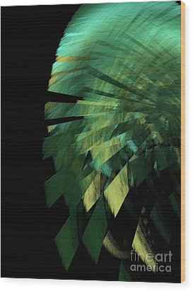 Wood Print featuring the digital art Andee Design Abstract 25 2017 by Andee Design