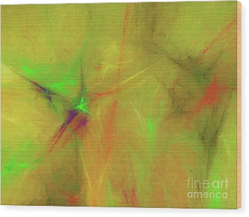 Wood Print featuring the digital art Andee Design Abstract 32 2017 by Andee Design