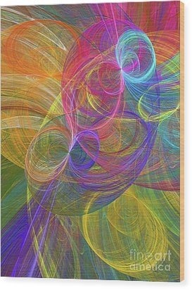 Wood Print featuring the digital art Andee Design Abstract 44 2017 by Andee Design
