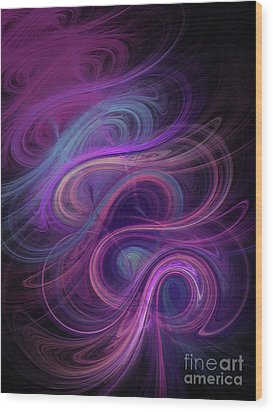 Wood Print featuring the digital art Andee Design Abstract 45 2017 by Andee Design