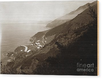Anderson Creek Labor Camp Big Sur April 3 1931 Wood Print