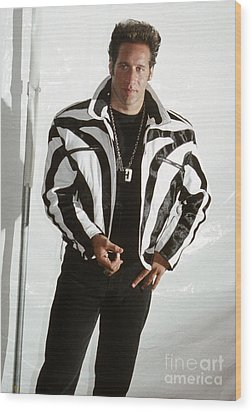 Wood Print featuring the photograph Andrew Dice Clay 1989 by Chris Walter