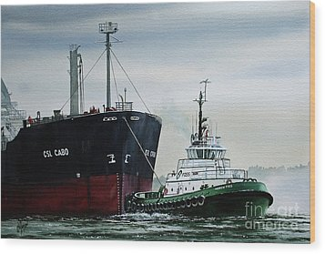 Andrew Foss Ship Assist Wood Print by James Williamson