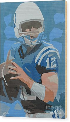 Andrew Luck II Wood Print
