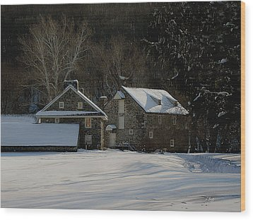 Andrew Wyeth Estate In Winter Wood Print