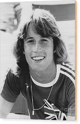 Wood Print featuring the photograph Andy Gibb 1977 by Chris Walter