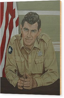 Andy Griffith Wood Print by Tresa Crain