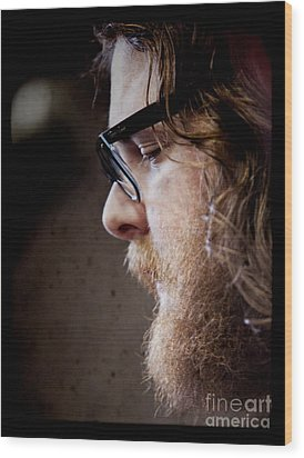 Andy Hull Of Manchester Orchestra Wood Print by Dustin K Ryan