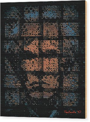 Andy Warhol Weave   Series   Wood Print by Teodoro De La Santa