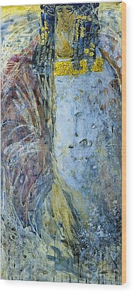 Wood Print featuring the painting Angel 1 by Valeriy Mavlo
