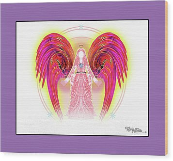 Angel #199 Wood Print by Barbara Tristan