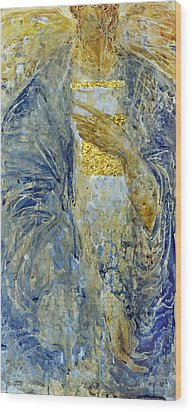 Wood Print featuring the painting Angel 3 by Valeriy Mavlo