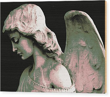 Angel 4 Wood Print by Maria Huntley
