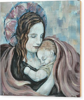 Angel And Baby No. 5 Wood Print