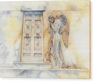 Angel At The Gate Wood Print by David Evans