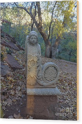 Angel Bench Autumn Sedona Wood Print