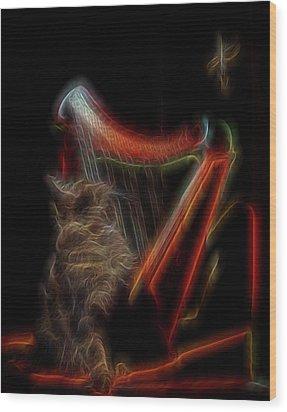 Angel Cat Wood Print by William Horden
