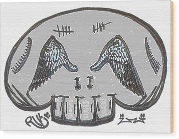 Angel Eyes Wood Print by Robert Wolverton Jr