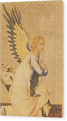 Angel Gabriel  Wood Print by Simone Martini
