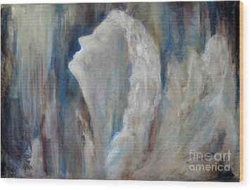Angel In Soft Pastel Wood Print by Cathy Weaver