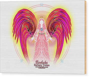 Wood Print featuring the digital art Angel Intentions Divine Timing by Barbara Tristan